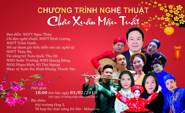 Thông báo tổ chức chương trình nghệ thuật ''Chào xuân Mậu Tuất'' phục vụ cộng đồng người Việt tại LB